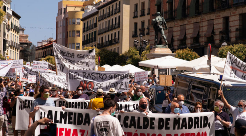 Merchants Of The Rastro Protest